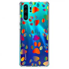 "Huawei P30 pro TPU dėklas unikaliu dizainu 1.0 mm ""u-case Airskin PAW design"""