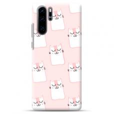"Huawei P30 pro TPU dėklas unikaliu dizainu 1.0 mm ""u-case Airskin Pink Kato design"""