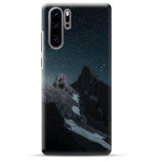 "Huawei P30 pro TPU dėklas unikaliu dizainu 1.0 mm ""u-case airskin Mountains 1 design"""