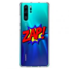 """Huawei P30 pro TPU dėklas unikaliu dizainu 1.0 mm """"u-case airskin ZAP design"""""""