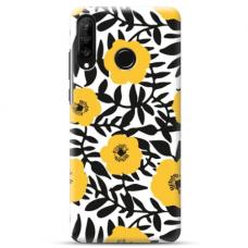 "Huawei P30 lite TPU DĖKLAS UNIKALIU DIZAINU 1.0 MM 1.0 mm ""u-case airskin Flowers 2 design"""