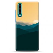"Huawei P30 TPU dėklas unikaliu dizainu 1.0 mm ""u-case Airskin Mountains 2 design"""