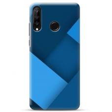 """Huawei P30 lite TPU dėklas unikaliu dizainu 1.0 mm """"u-case Airskin Blue design"""""""