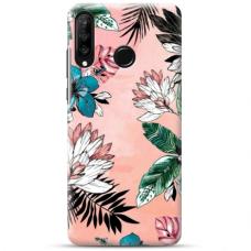 "Huawei P30 lite TPU dėklas unikaliu dizainu 1.0 mm ""u-case Airskin Flowers 1 design"""