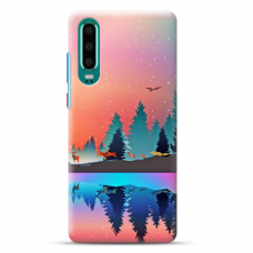 """Huawei P30 TPU dėklas unikaliu dizainu 1.0 mm """"u-case Airskin Nature 5 design"""""""