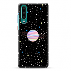 "Huawei P30 TPU dėklas unikaliu dizainu 1.0 mm ""u-case Airskin Planet design"""
