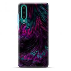 "Huawei P30 TPU dėklas unikaliu dizainu 1.0 mm ""u-case Airskin Feather design"""