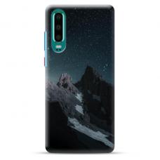 "Huawei P30 TPU dėklas unikaliu dizainu 1.0 mm ""u-case Airskin Mountains 1 design"""