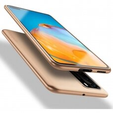 Huawei P40 dėklas X-LEVEL GUARDIAN 0,6 mm silikonas auksinis