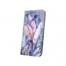 Huawei P40 Lite e atverčiamas dėklas smart trendy spalvoti lapai