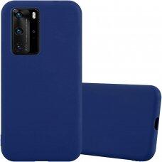 """Huawei P40 pro Dėklas Mercury Goospery """"Soft jelly case""""  tamsiai mėlynas"""