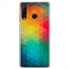 """Huawei P40 Lite E TPU DĖKLAS UNIKALIU DIZAINU 1.0 MM 1.0 mm """"u-case airskin Pattern 3 design"""""""