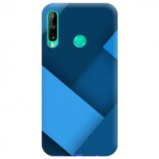 """Huawei P40 Lite E TPU dėklas unikaliu dizainu 1.0 mm """"u-case Airskin blue design"""""""