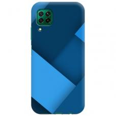 """Huawei P40 Lite TPU dėklas unikaliu dizainu 1.0 mm """"u-case Airskin blue design"""""""