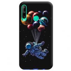 "Huawei P40 Lite E TPU dėklas unikaliu dizainu 1.0 mm ""u-case Airskin Cosmo design"""