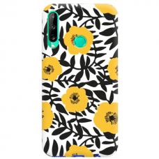 "Huawei P40 Lite E TPU dėklas unikaliu dizainu 1.0 mm ""u-case Airskin Flowers 2 design"""