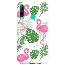 "Huawei P40 Lite E TPU dėklas unikaliu dizainu 1.0 mm ""u-case airskin Flamingos design"""