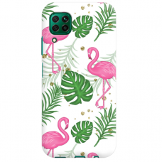 "Huawei P40 Lite TPU dėklas unikaliu dizainu 1.0 mm ""u-case airskin Flamingos design"""