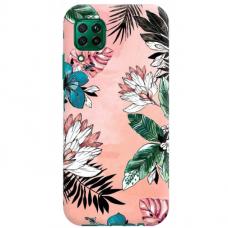 "Huawei P40 Lite TPU dėklas unikaliu dizainu 1.0 mm ""u-case Airskin Flowers 1 design"""