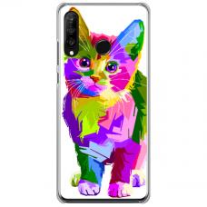 "Huawei P40 Lite E TPU dėklas unikaliu dizainu 1.0 mm ""u-case Airskin Kitty design"""