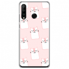 "Huawei P40 Lite E TPU dėklas unikaliu dizainu 1.0 mm ""u-case Airskin Pink Kato design"""