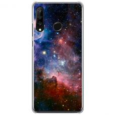 """Huawei P40 Lite E TPU dėklas unikaliu dizainu 1.0 mm """"u-case Airskin Space 2 design"""""""