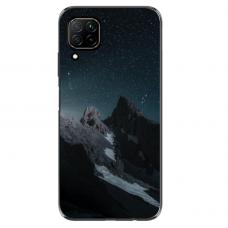 "Huawei P40 Lite TPU dėklas unikaliu dizainu 1.0 mm ""u-case Airskin Mountains 1 design"""