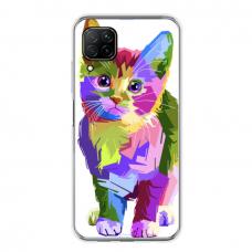 "Huawei P40 Lite TPU dėklas unikaliu dizainu 1.0 mm ""u-case Airskin Kitty design"""