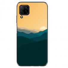 "Huawei P40 Lite TPU dėklas unikaliu dizainu 1.0 mm ""u-case Airskin Mountains 2 design"""
