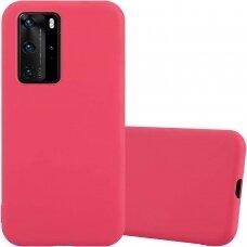 """Huawei P40 pro Dėklas Mercury Goospery """"Soft jelly case""""  raudonas"""