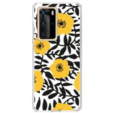 "Huawei P40 Pro TPU DĖKLAS UNIKALIU DIZAINU 1.0 MM 1.0 mm ""u-case airskin Flowers 2 design"""