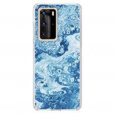 "Huawei P40 Pro TPU DĖKLAS UNIKALIU DIZAINU 1.0 MM 1.0 mm ""u-case airskin Marble 3 design"""