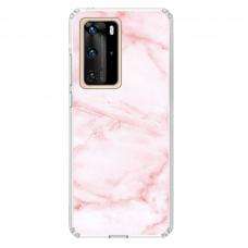 "Huawei P40 Pro TPU DĖKLAS UNIKALIU DIZAINU 1.0 MM 1.0 mm ""u-case airskin Marble 5 design"""