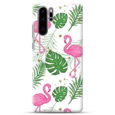 "Huawei P30 Pro TPU dėklas unikaliu dizainu 1.0 mm ""u-case airskin Flamingos design"""
