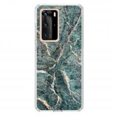 "Huawei P40 Pro TPU dėklas unikaliu dizainu 1.0 mm ""u-case airskin Marble 1 design"""