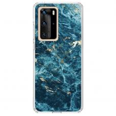 "Huawei P40 Pro TPU dėklas unikaliu dizainu 1.0 mm ""u-case Airskin Marble 2 design"""