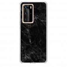 "Huawei P40 Pro TPU dėklas unikaliu dizainu 1.0 mm ""u-case Airskin Marble 4 design"""