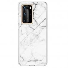 "Huawei P40 Pro TPU dėklas unikaliu dizainu 1.0 mm ""u-case Airskin Marble 6 design"""