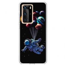 "Huawei P40 TPU dėklas unikaliu dizainu 1.0 mm ""u-case Airskin Cosmo design"""