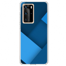 """Huawei P40 TPU dėklas unikaliu dizainu 1.0 mm """"u-case Airskin Blue design"""""""