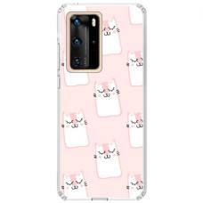 "Huawei P40 Pro TPU dėklas unikaliu dizainu 1.0 mm ""u-case Airskin Pink Kato design"""