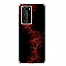 "Huawei P40 Pro TPU dėklas unikaliu dizainu 1.0 mm ""u-case Airskin Space 3 design"""