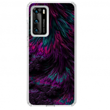 "Huawei P40 TPU dėklas unikaliu dizainu 1.0 mm ""u-case Airskin Feather design"""