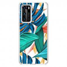 "Huawei P Smart 2021 TPU dėklas unikaliu dizainu 1.0 mm ""u-case Airskin Leaves 1 design"""