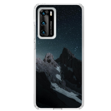 "Huawei P40 TPU dėklas unikaliu dizainu 1.0 mm ""u-case Airskin Mountains 1 design"""