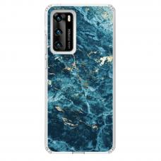 "Huawei P40 TPU dėklas unikaliu dizainu 1.0 mm ""u-case Airskin Marble 2 design"""