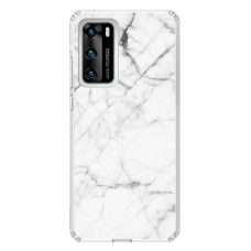 "Huawei P40 TPU dėklas unikaliu dizainu 1.0 mm ""u-case Airskin Marble 6 design"""