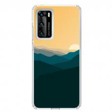 "Huawei P40 Pro TPU dėklas unikaliu dizainu 1.0 mm ""u-case Airskin Mountains 2 design"""