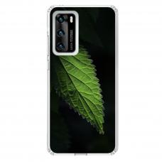 """Huawei P40 TPU dėklas unikaliu dizainu 1.0 mm """"u-case Airskin Nature 1 design"""""""