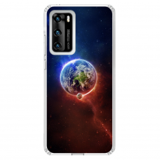 """Huawei P40 TPU dėklas unikaliu dizainu 1.0 mm """"u-case Airskin Nature 4 design"""""""